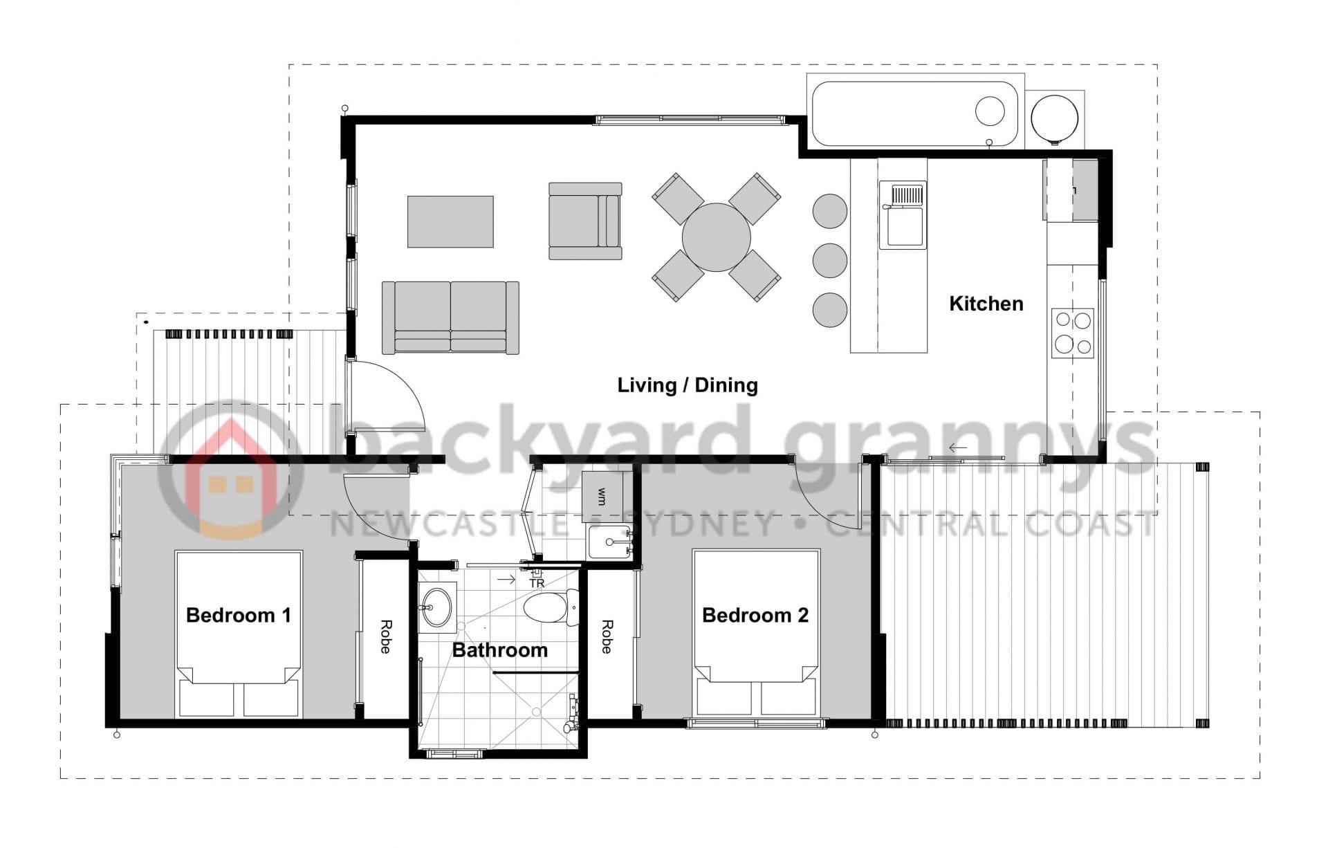silverdale designer granny flat floor plan